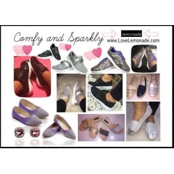 Comfy and Sparkly Footwear by Lemonade