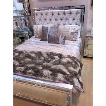 Milano Mirror King Size Bed Frame