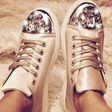 Mui Mui Style Sneakers Champagne