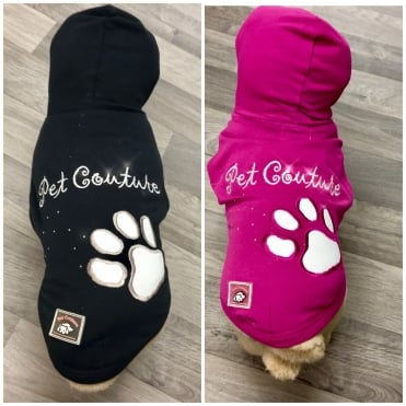 Pet Couture Dog Hoodie with Paw Print