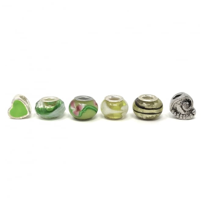 Set of assorted Charms and Stopper Green Dreams